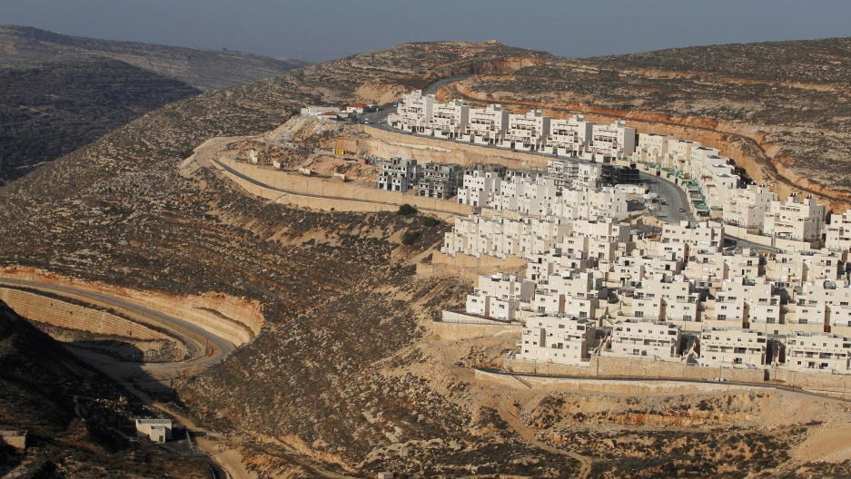 construction site of homes for Jewish settlers