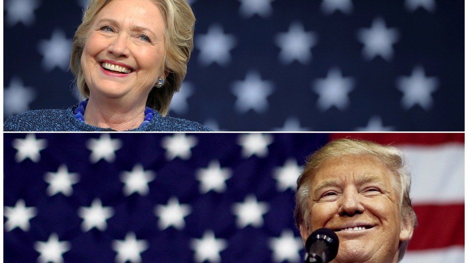 Hillary Clinton, Donald Trump sprint to finish