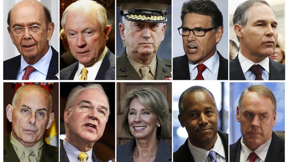 Trump cabinet appointees