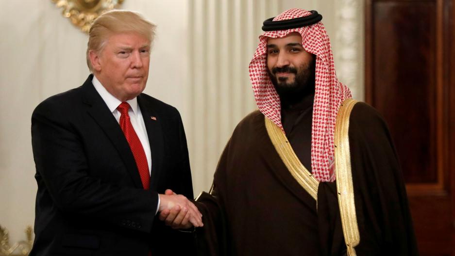 Donald Trump and Mohammad bin Salman