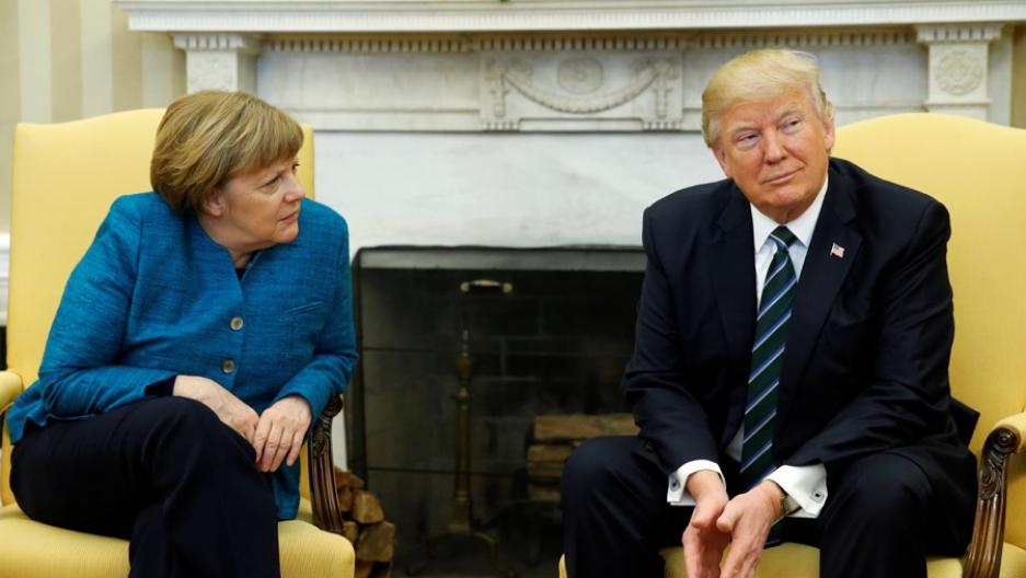 Watch Trump Meets Angela Merkel At The White House