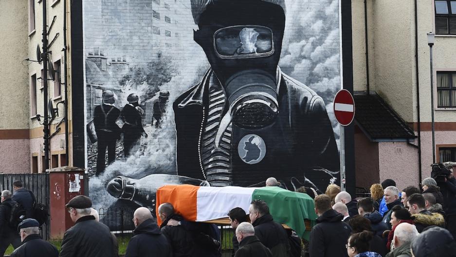 Martin McGuinness coffin