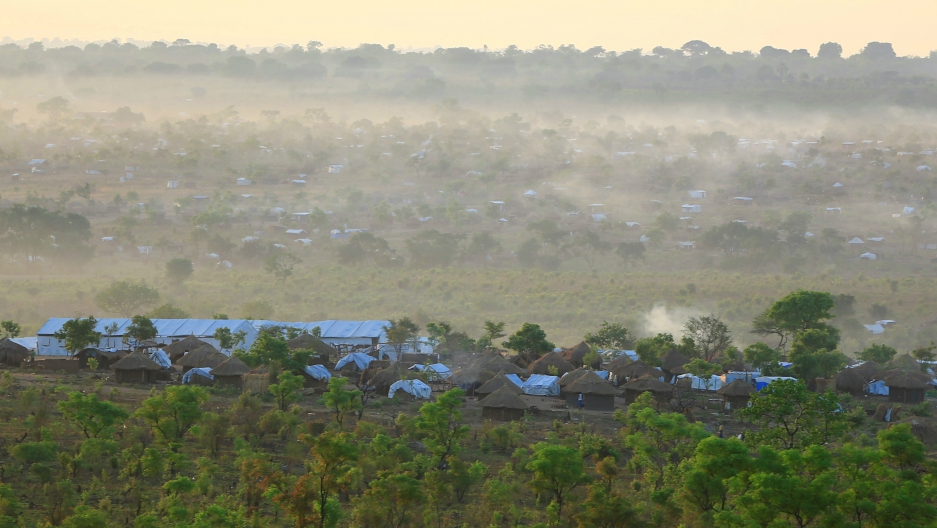 Uganda's Bidi Bidi refugee camp, shown here on April 5, 2017, is now home to 285,000 residents, nearly all of them having refugees from South Sudan's civil war.