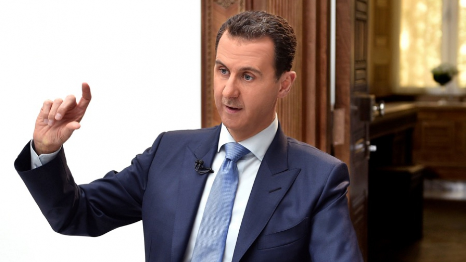 Syria's President Bashar al-Assad speaking during a previous interview with Croatian newspaper Vecernji List in Damascus, Syria, April 6.