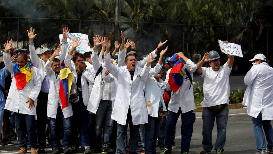 Doctors protesting