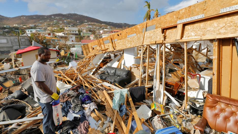 Hurricane Irma destroyed home