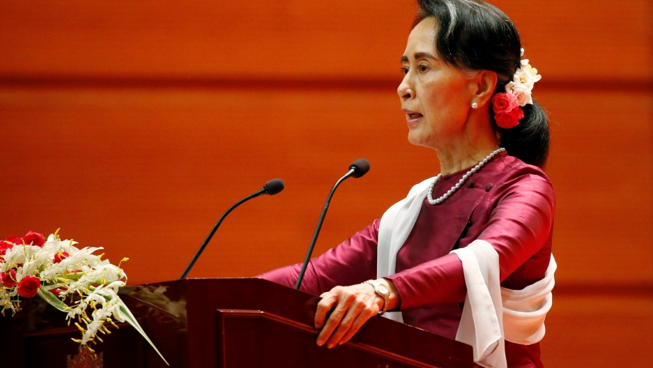 Myanmar State Counselor Aung San Suu Kyi delivers a speech to the nation over Rakhine and Rohingya situation.