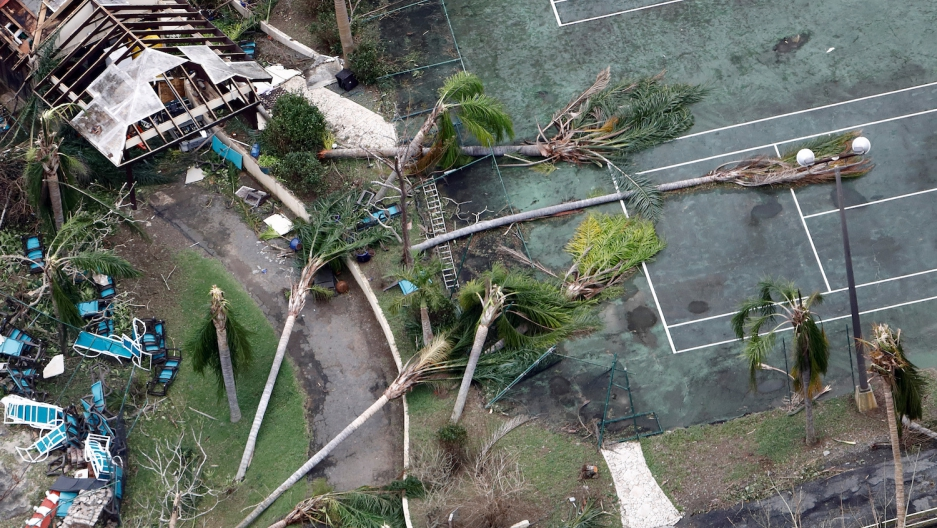 One of the scenes on Sept. 21, 2017, after Hurricane Maria battered St. Croix, one of the US Virgin Islands.