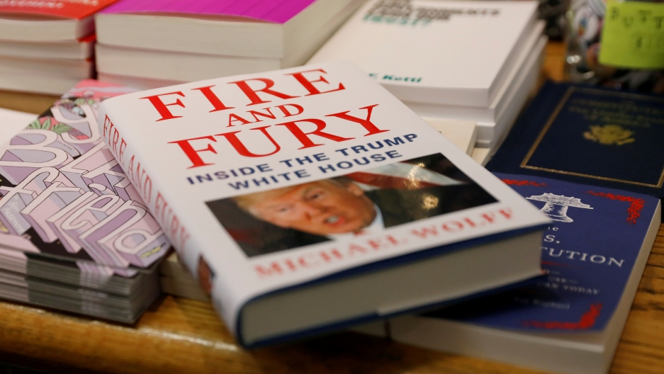 "A copy of ""Fire and Fury: Inside the Trump White House"" at a book store in New York"
