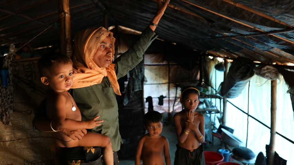 Hasina Khatun, 35, whose husband Dil Mohammed was among 10 Rohingya men killed by Myanmar security forces and Buddhist villagers