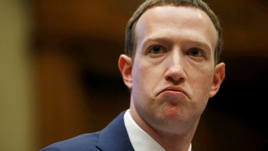 Facebook CEO Mark Zuckerberg testifies before a House Energy and Commerce Committee