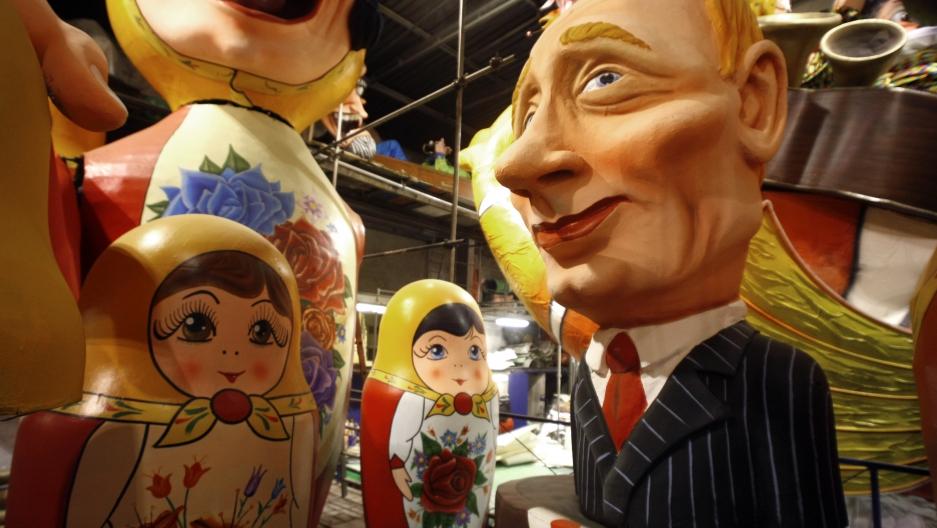 A carnival model of Russia's Prime Minister Vladimir Putin in 2009.