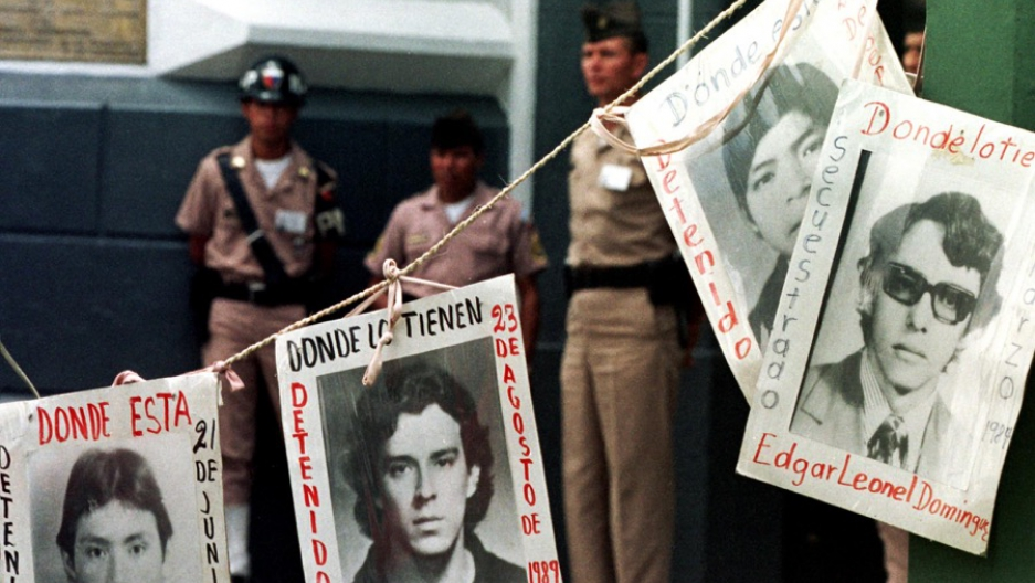 Pictures of those who disappeared during Guatemala's 36-year civil war