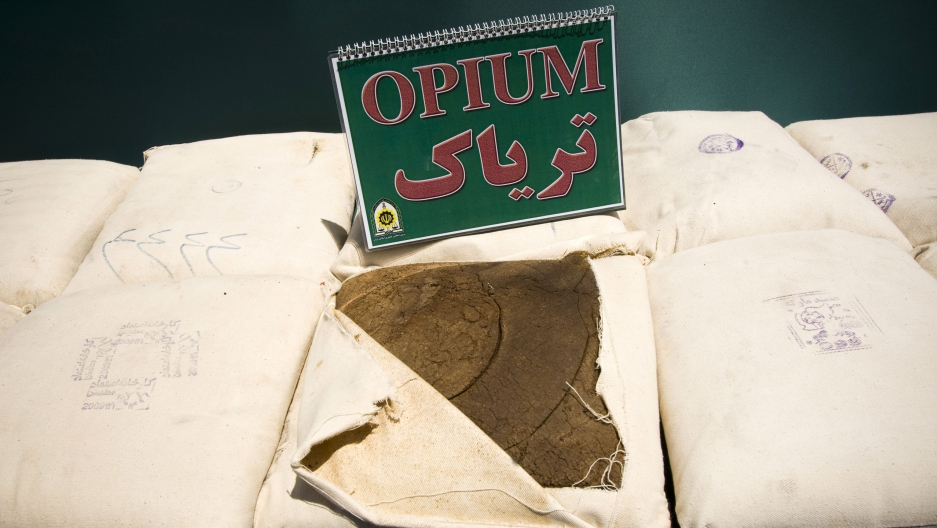 Confiscated opium in Iran