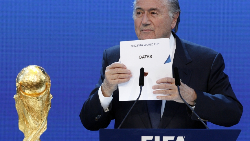 FIFA President Sepp Blatter announces that Qatar will host the 2022 World Cup. The choice has come under growing fire as corruption and labor abuse allegations have mounted.