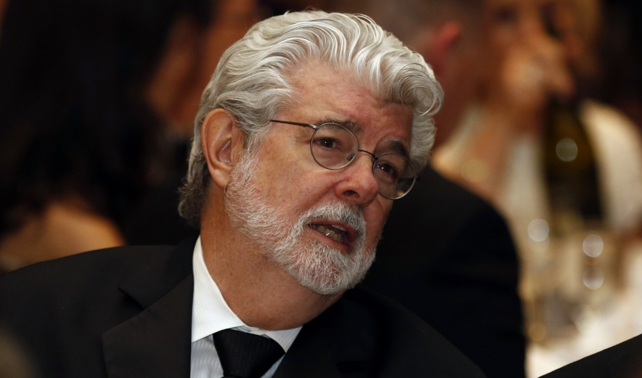 Director and producer George Lucas attends the 2013 White House Correspondents Association Dinner.