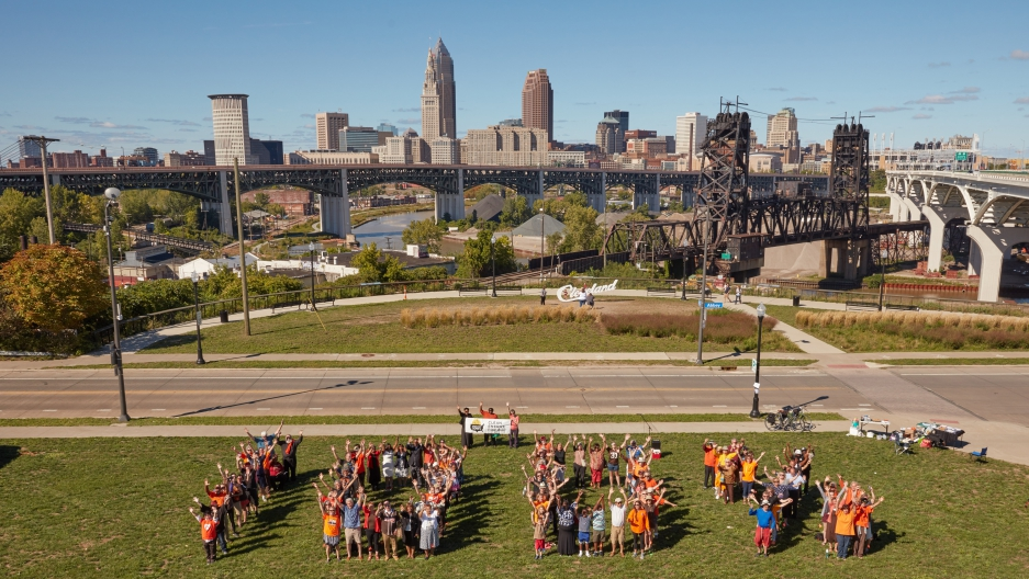 The Sierra Club is organizing grassroots activists to push Cleveland's city leaders to commit to 100 percent renewable energy by the year 2050.