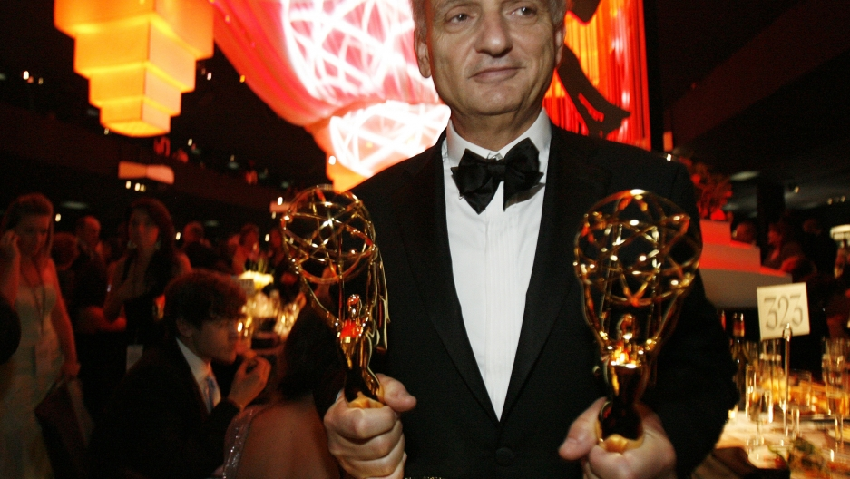 "David Chase with his Emmy wins for ""The Sopranos"" in 2007."