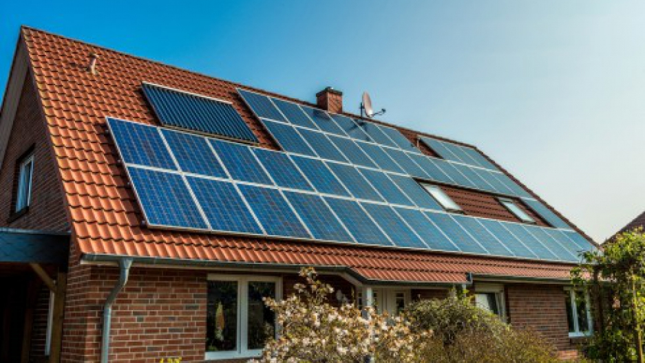 Rooftop solar on house