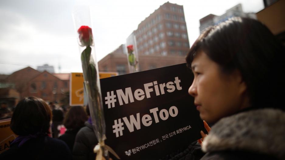 Protesta feminista del 8 de marzo en Seúl.