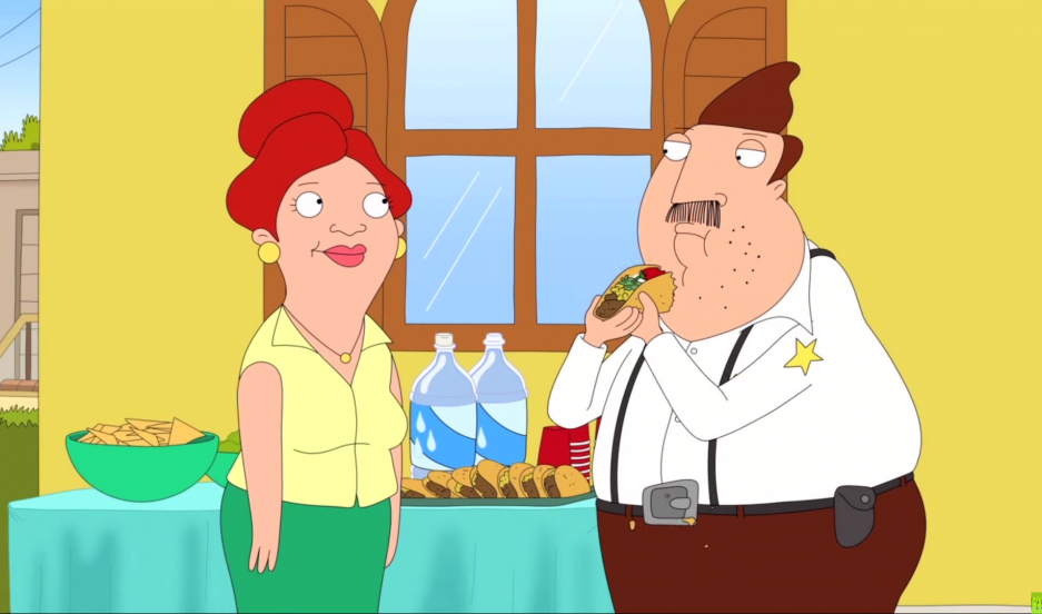 "A scene from the upcoming Fox animated series, ""Bordertown."""