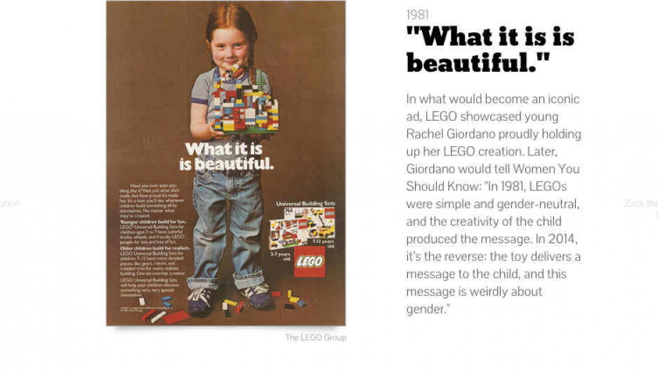A timeline of LEGO's gendered toy markering