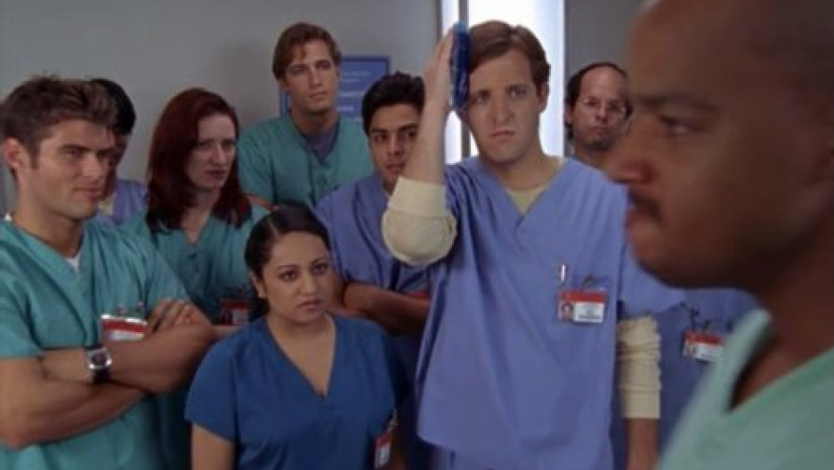 A scene from Scrubs