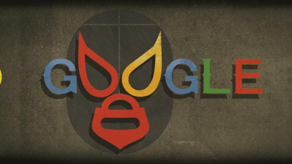 google doodle depicts masked mexican wrestler el santo