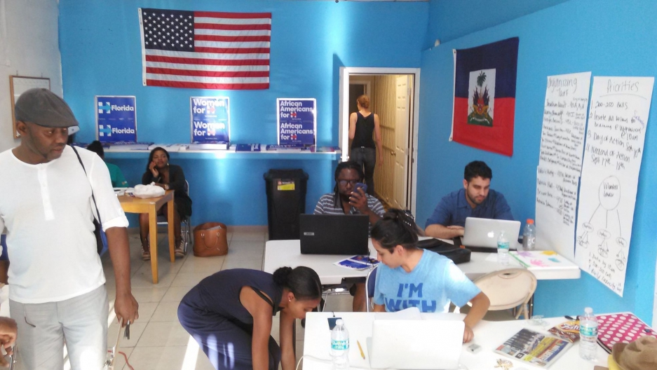 Hillary Clinton's campaign office in Little Haiti