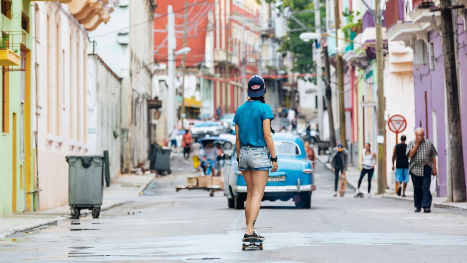 Ariadna Pérez Ballester is the only female skater in Camagüey, a city of 300,000 in central Cuba.