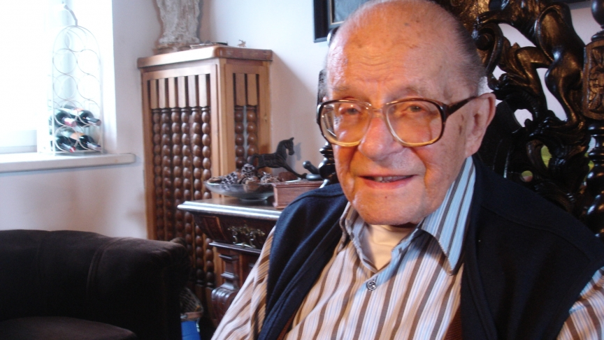 Stefan Baluk (pictured here in 2010) fought for Polish independence in the Warsaw Uprising. He spent much of his time underground, in the sewers. After the war, he was arrested by the Soviets.