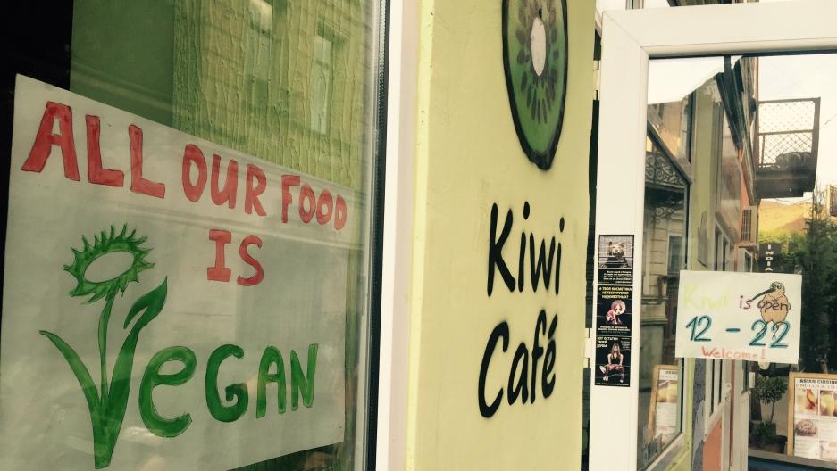 The Kiwi Cafe in historic downtown, Tbilisi, Georgia