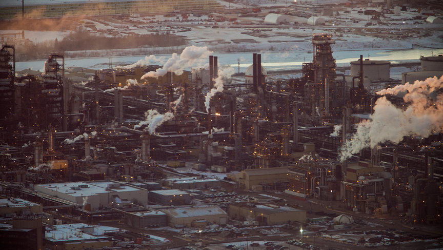 Tar sands oil processing facility