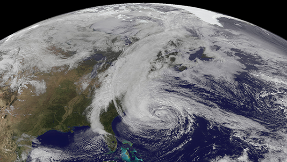 Earth and Hurricane Sandy