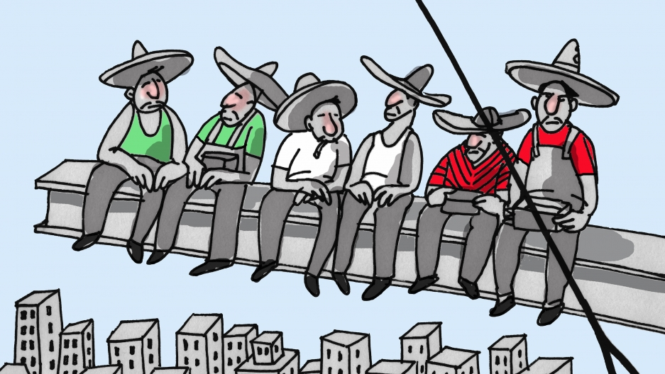 Venezuelan cartoonist-in-exile Rayma Suprani turns the Mexican immigrants rhetoric of Donald Trump on its head.