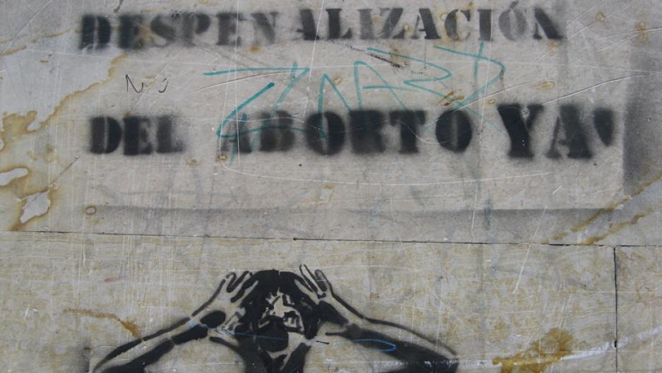 Graffiti in Bogota, Colombia, calling for the decriminalization of abortion.