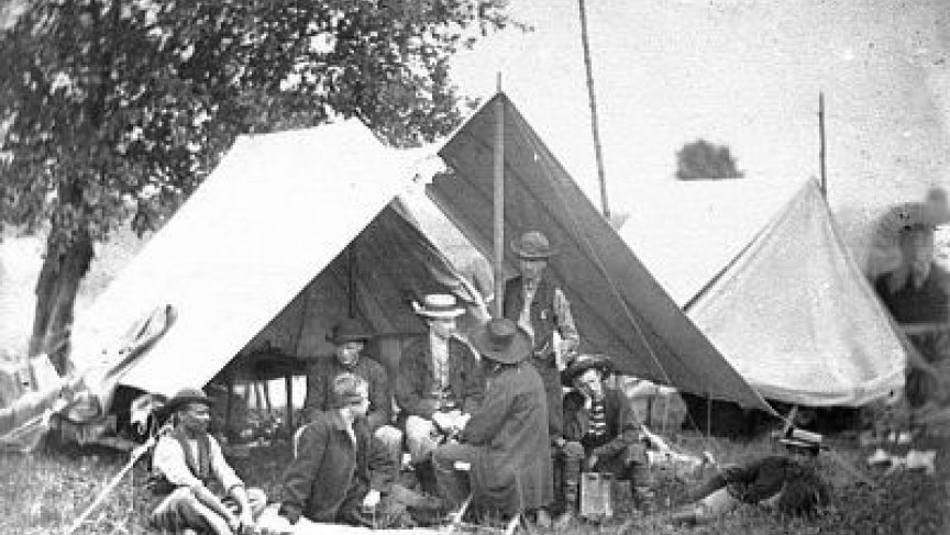 Union army telegraph operators just after the battle of Gettysburg. The Civil War is sometimes described as the first information war. Intercepted messages landed on Abraham Lincoln's desk.