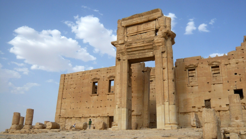The Temple of Bel in the historical city of Palmyra, Syria, August 4, 2010. UNITAR has confirmed with satellite images that ISIS has destroyed the ancient temple.