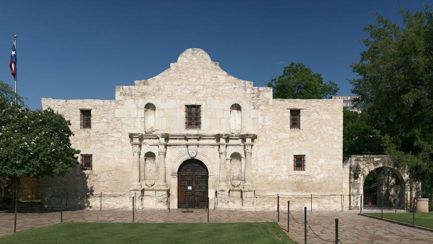 The chapel of the Alamo, San Antonio, Texas