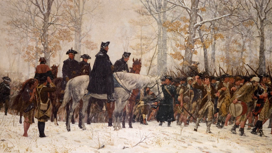 Geo Washington painting Valley Forge