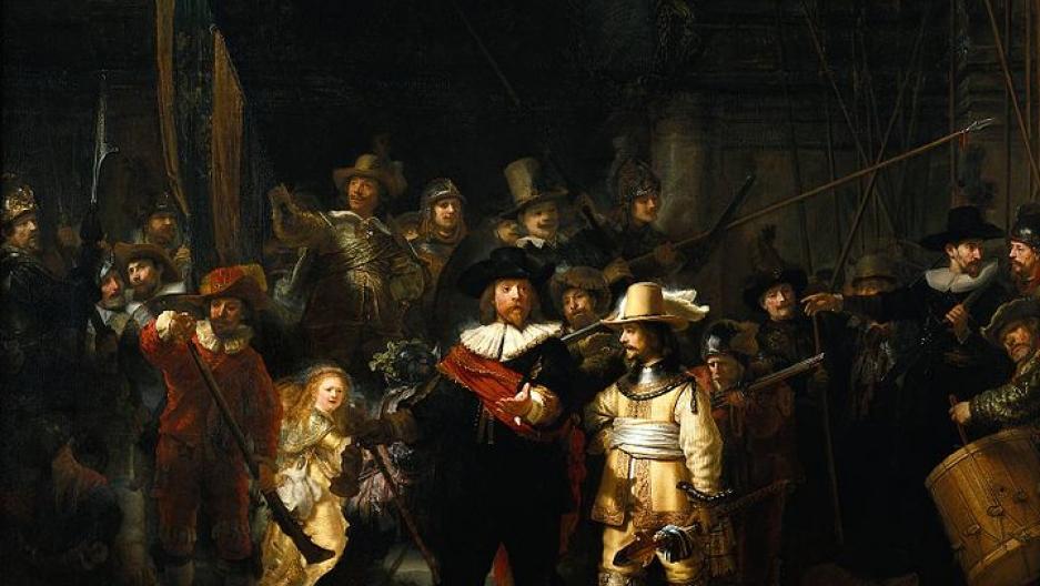 The Night Watch, Rembrandt (1606–1669), Rijksmuseum Amsterdam.