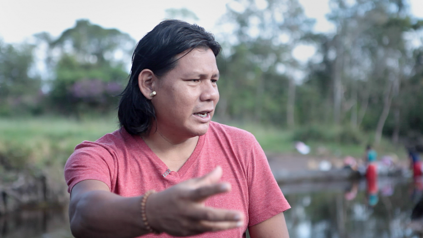 Xavante indigenous activist Hiparidi Toptiro has been fighting to keep his tribe's protected forests, in Mato Grosso state, safe from farmers looking to expand their soy fields. Toptiro has bullet scars testifying to the dangers of activism in Brazil.