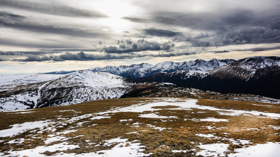 A view of tundra landscape in the Rocky Mountains — 11,000 feet from sea level.