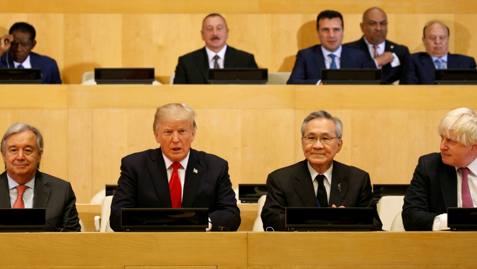 U.S. President Donald Trump participates in a session on reforming the United Nations at U.N. Headquarters in New York, U.S., September 18, 2017.