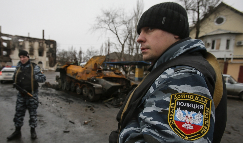 Police int self-proclaimed Donetsk People's Republic