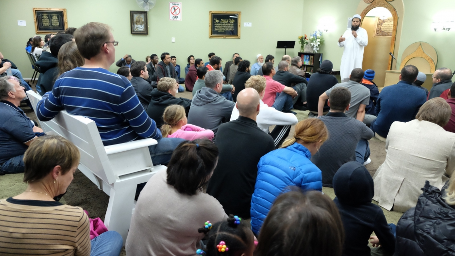 "A Friday night ""Meet the Muslims"" session at the Utah Islamic Center in Sandy, Utah. Members of the center started them after the election of Donald Trump."