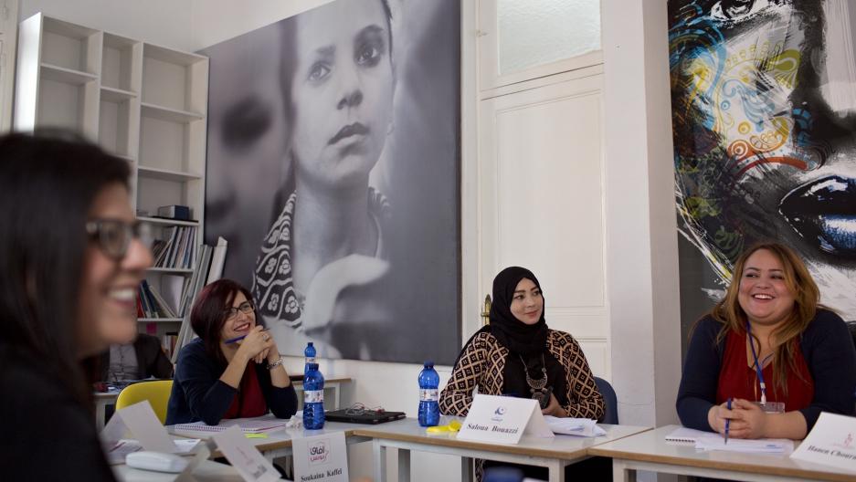 Women entering politics in Tunisia