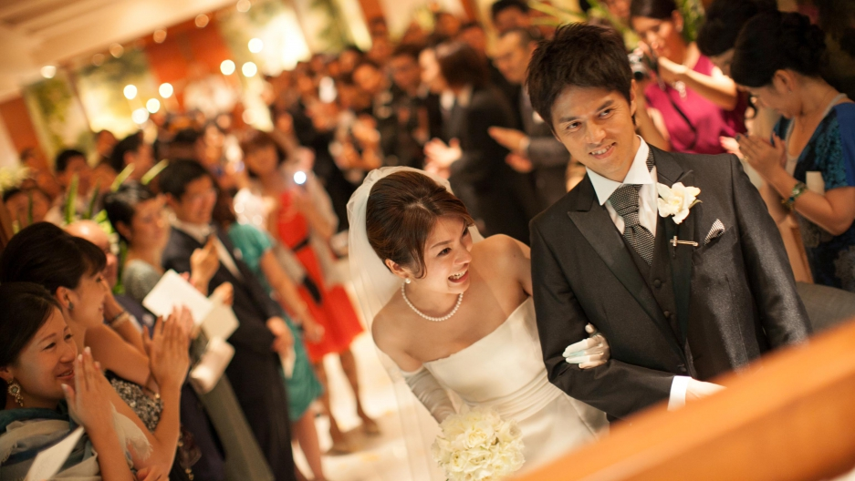 It's not unusual for Japanese to have Christian weddings, hold Shinto ceremonies for newborns and Buddhist ceremonies for the dead.