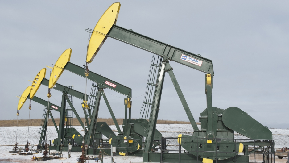 Oil wells near Williston, North Dakota have propelled strong growth in the state.