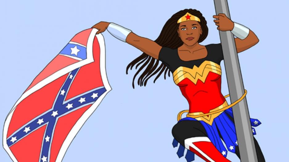 Bree Newsome as Wonder Woman by Artist Rebecca Cohen